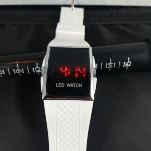 Mens white led watch fashion designer  type